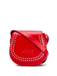 Mcq By Alexander Mcqueen Studded Mini Satchel Bag Red