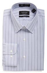 Men's Nordstrom Men's Shop Smartcare Trim Fit Check Dress Shirt Grey Sconce