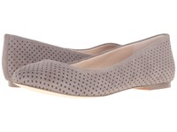 Dr. Scholl's Vixen Original Collection Brushed Nickel Suede Women's Flat Shoes Taupe