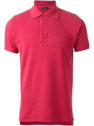 Kiton Short Sleeve Polo Shirt Red