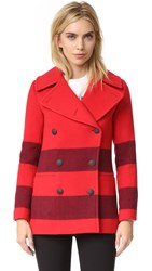 Rag And Bone Skye Peacoat Fiery Red