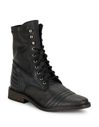 Free People Sounder Lace Up Military Boots Black