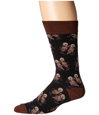 Socksmith Significant Otter Black Crew Cut Socks Shoes