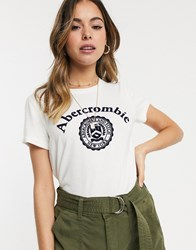 Abercrombie And Fitch Logo T Shirt White