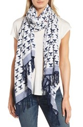 Tory Burch Women's Whale Tail Oblong Scarf