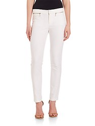 Rebecca Taylor Slim Zip Pocket Pants Snow