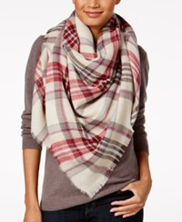 Steve Madden Classic Plaid Blanket Square Scarf Red