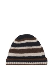 Marni Striped Wool Knit Beanie Hat