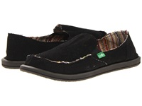 Sanuk Donna Hemp Black Women's Slip On Shoes