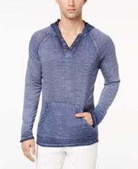 Inc International Concepts Men's French Terry Hoodie Created For Macy's Basic Navy