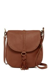 Lucky Brand Leather Ali Flap Crossbody Brown