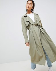 Weekday Trench Coat Green