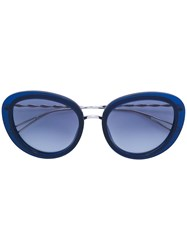 Elie Saab Oversized Sunglasses Acetate Metal Other Blue