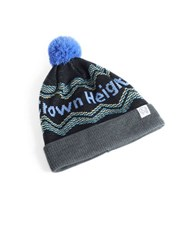 Tuck Shop Co. Crown Heights Striped Pompom Beanie Charcoal