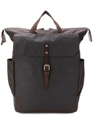 Ally Capellino Fin Waxed Rucksack Brown
