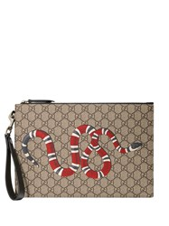 Gucci Gg Pouch With Kingsnake Brown