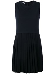Akris Punto Pleated Skirt Dress Blue