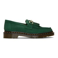 Dr. Martens Green United Arrows Edition Suede Snaffle Loafers