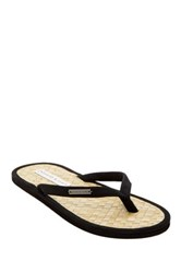 Parke And Ronen Coconut Leaf Beach Flip Flop Black