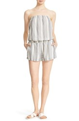 Women's Soft Joie 'Gidget' Strapless Stripe Cotton Romper