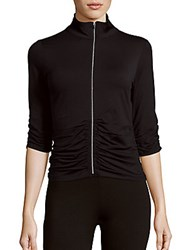 Calvin Klein Ruched Zippered Jacket Black