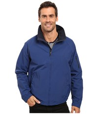 Nautica Fashion Color Of Anchors Light Weight Bomber Jacket Estate Blue Men's Coat Navy