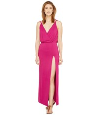 Culture Phit Elea Spaghetti Strap Maxi Dress With Side Slit Purple Women's Dress