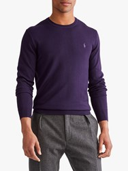 Ralph Lauren Polo Merino Wool Jumper Gothic Purple