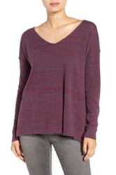 Bp Marl V Neck Pullover Purple