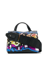 Zanellato Postina Graffiti Crossbody Bag Black