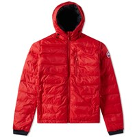 Canada Goose Lodge Hooded Jacket Red