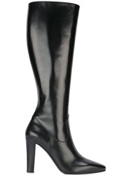 Saint Laurent 'Lily 95' Tall Boots Black