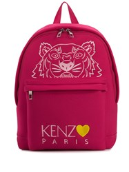 Kenzo Capsule Back From Holidays Embroidered Tiger Backpack Pink