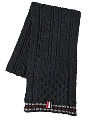 Thom Browne Wool Cable Knit Scarf