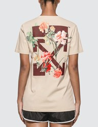 Off White Flowers Carryover Casual T Shirt White