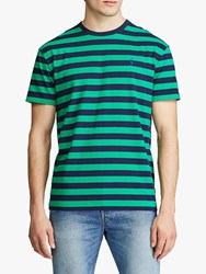 Ralph Lauren Polo Striped T Shirt Green French Navy