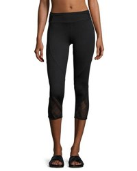 Marc New York Mesh Inset Cropped Leggings Black