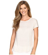 Nic Zoe Everlast Tee Powder Women's T Shirt Beige