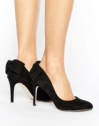 Miss Kg Coral Bow Trim Court Shoe Black