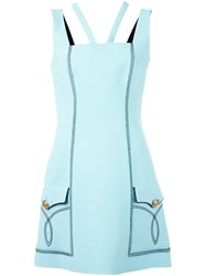 Fausto Puglisi Stitching Details Dress Blue