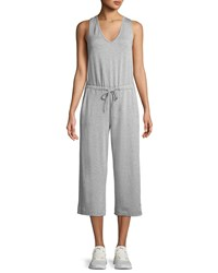 Beyond Yoga Farrah Scoop Neck Sleeveless Wide Leg Cropped Jumpsuit Gray
