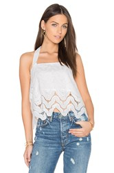 J.O.A. Halter Top White