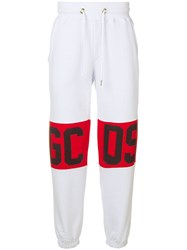 Gcds Logo Band Track Pants White