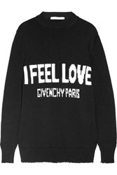 Givenchy Intarsia Cotton Sweater Black