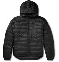 Canada Goose Lodge Quilted Down Hooded Jacket Black