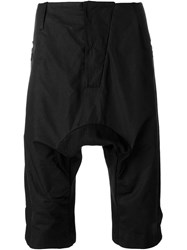 Lost And Found Slim Drop Crotch Shorts Black