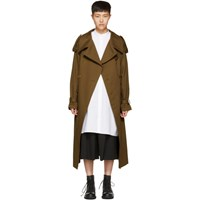 Y's Brown Oversized Trench Coat
