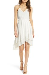 Everly Women's Ruffle Hem Dress Ivory