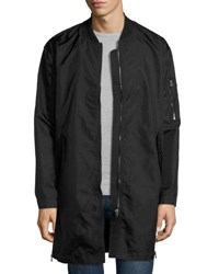 Cheap Monday Protect Long Bomber Style Parka Black