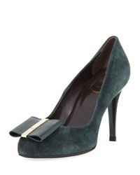 Roger Vivier Decollete Smoking Bow Pump Cipresso